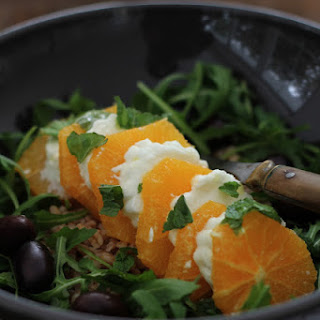 Orange Mozzarella Sweet Winter Version of the Famous Tomato Mozzarella Salad
