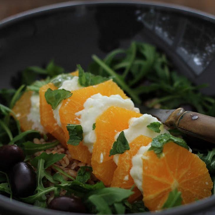 Orange Mozzarella Sweet Winter Version of the Famous Tomato Mozzarella Salad
