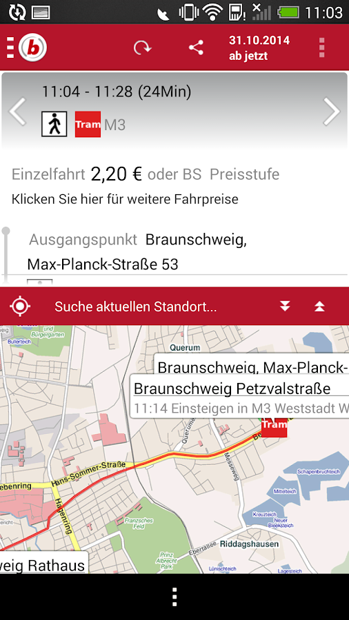 Verkehrs-AG - screenshot