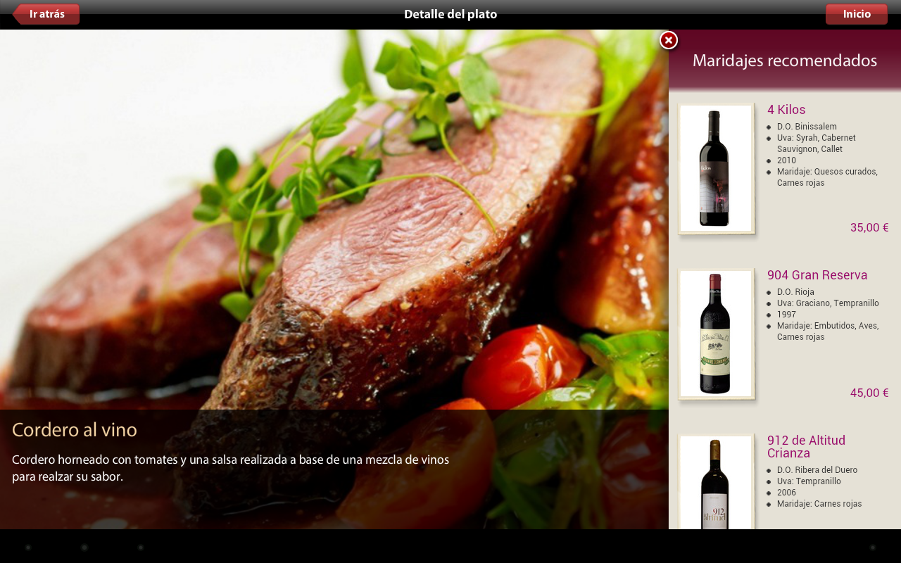 Vinipad Wine List & Food Menu - screenshot