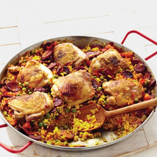 Chicken and Chorizo Paella.