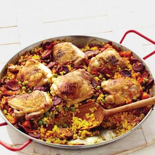 Chicken and Chorizo Paella.