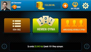 Screenshot of 101 Yüzbir Çanak Okey