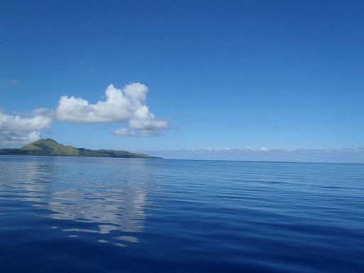 fiji-marine-conservation - Just a sample of the brilliant blue waters in Fiji.