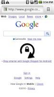 Screenshot of Orientation Lock/Unlock