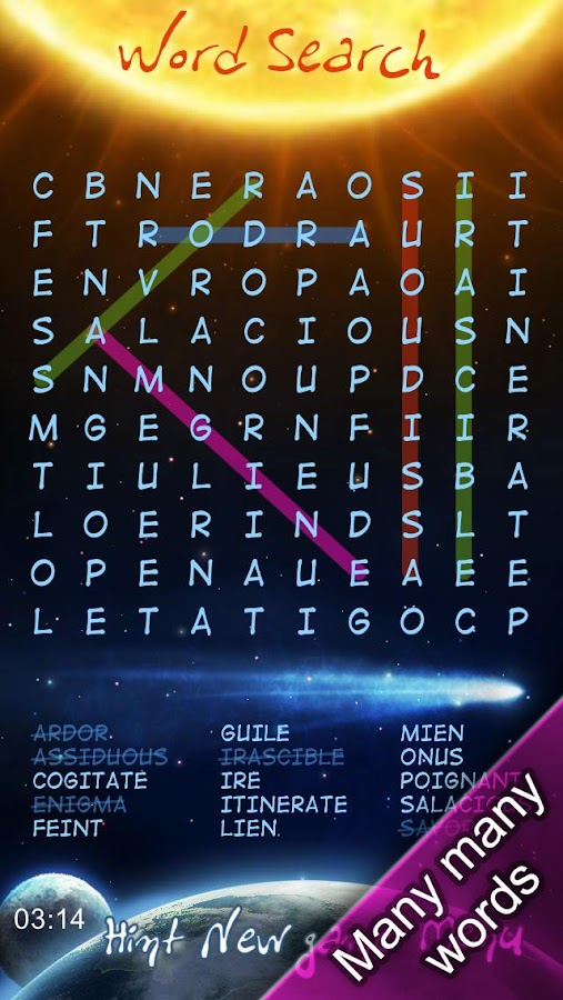 Free Word Search Puzzles- screenshot
