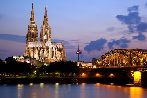Cathedral-Cologne-Germany - Cologne Cathedral and the Hohenzollern Bridge in Cologne, Germany.