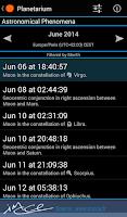 Screenshot of Planetarium for SmartWatch