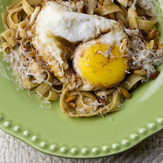 Brown Butter Pasta with Egg.
