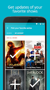 Series Addict - TV Guide App - náhled