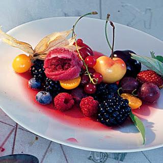 Fruit in Lemon-Verbena Syrup