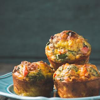 Crustless Mini Quiche (single serving breakfast muffins).