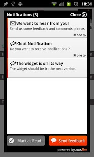 Klout for Android - screenshot thumbnail