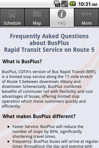 CDTA BusPlus- screenshot