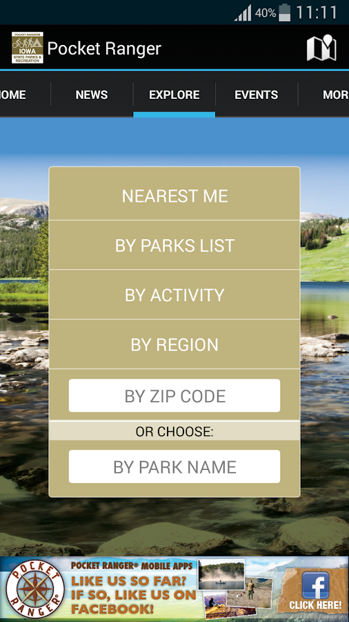 IA State Parks Guide - screenshot