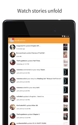 android Wattpad - Free Books & Stories Screenshot 3