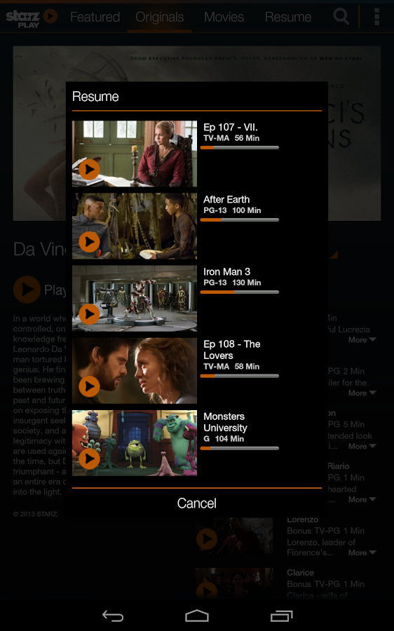 STARZ Play - screenshot