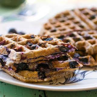 Blueberry Oatmeal Waffles.