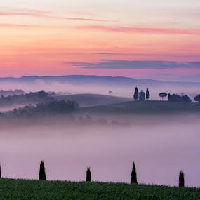 Hills by Marco Carotenuto - Landscapes Mountains & Hills ( hills, fog, cluods, sunshine, landscape )