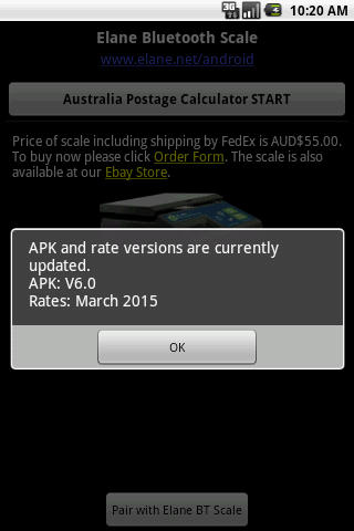 Australia Postage Calculator - screenshot