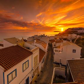 Salema sunset by Ben Leng - Landscapes Sunsets & Sunrises