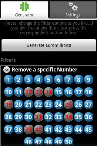 Universal Lotto Generator Plus- screenshot