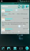 Screenshot of GOWidget Cyan ICS Light Free