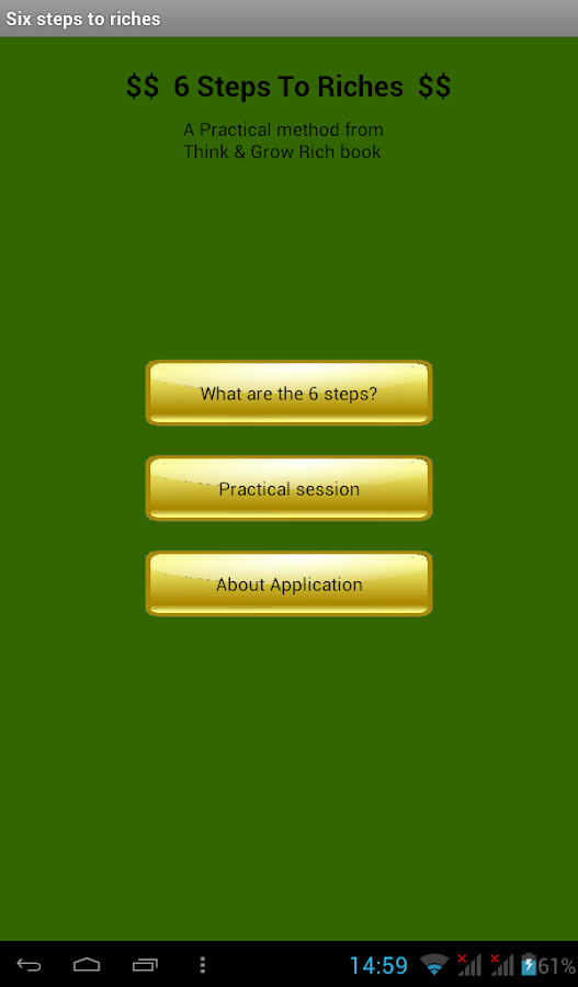 Six Steps To Riches Pro - screenshot