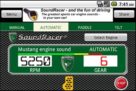 SoundRacer FREE Car Sounds- screenshot thumbnail