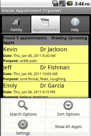 Doctor Appointment Organizer - screenshot