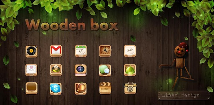 Woodenbox GO LauncherEX Theme
