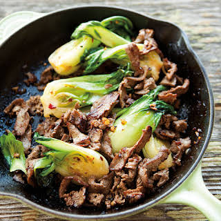 Stir-Fried Beef and Bok Choy with Ginger.