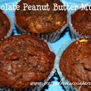 Chocolate Peanut Butter Muffins with Truvia.