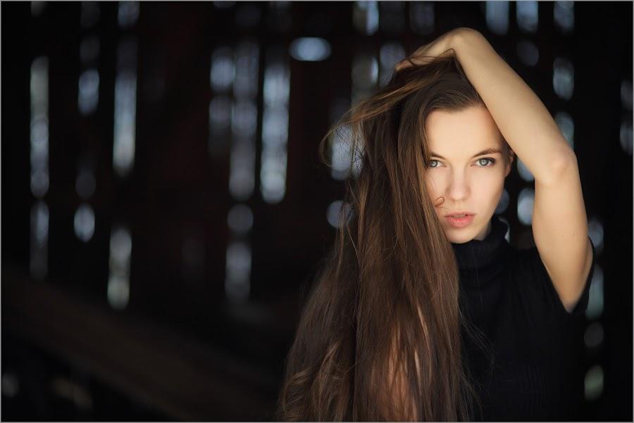 matrix by Andrius Mačiūnas - People Portraits of Women ( girl, long hair, hair, bokeh, portrait, eyes )