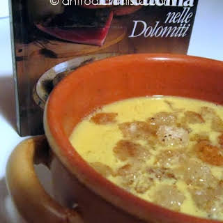 Wine Soup with Cinnamon Croutons.