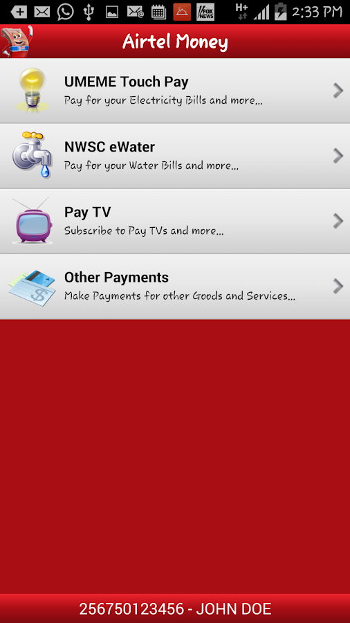 Airtel Money Uganda- screenshot