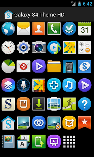 【免費個人化App】Galaxy S4 Theme HD Free (ADW)-APP點子