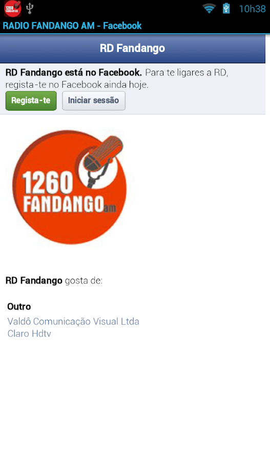RADIO FANDANGO AM: captura de tela