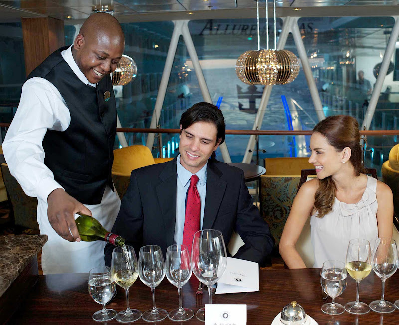 Reserve a seat at Chef's Table in Chops Grille aboard Allure of the Seas for an exclusive dining experience and tasting with fine wines.