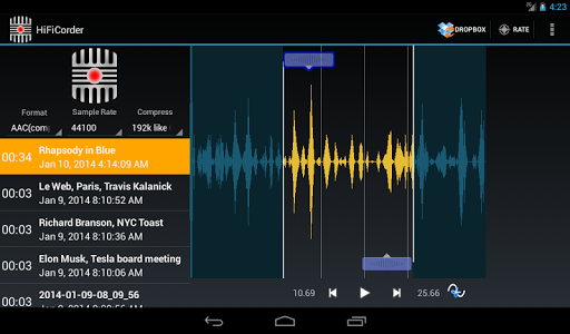 HiFiCorder Record, Edit, Buy v5.4.6