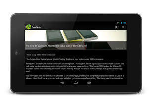 RSS Feed Hungry. Feedly reader screenshot for Android