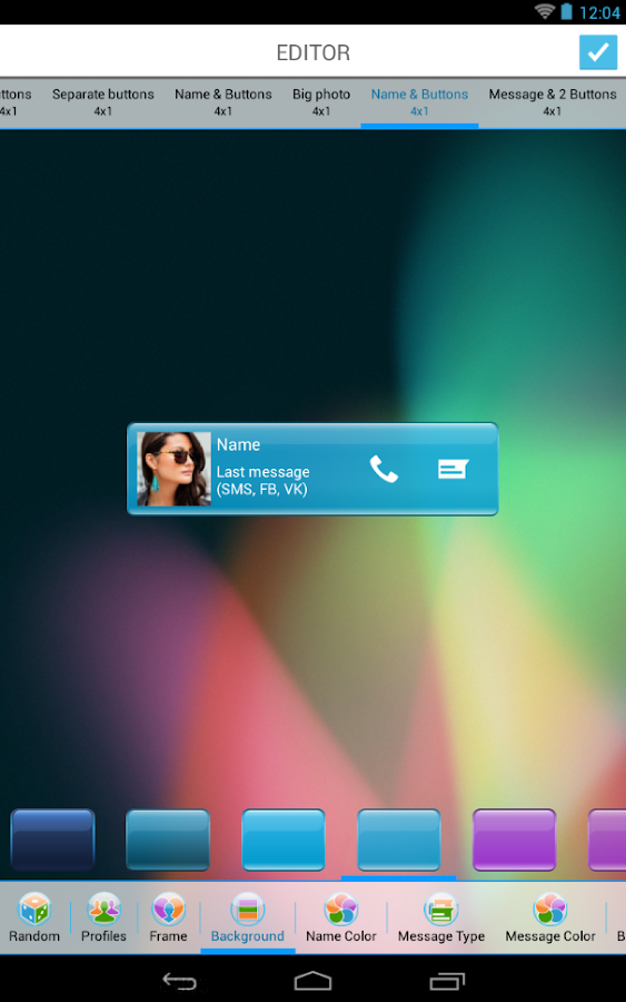 HD Contact Widgets (Free)- screenshot