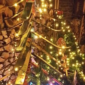 Holiday Ski Tree by Joe Harris - Public Holidays Christmas ( holiday, ski, skiing, winter, tree, snow, christmas, christmas tree, decorations )