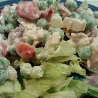 Seven Layer Salad Peas Bacon Recipes.