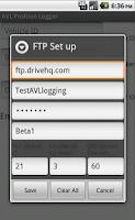 Screenshot of AVL Position Logger