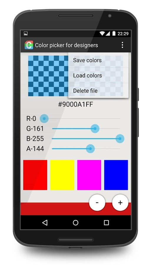 Color picker for designers- screenshot