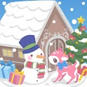 snow dream♪cute christmas(FREE icon