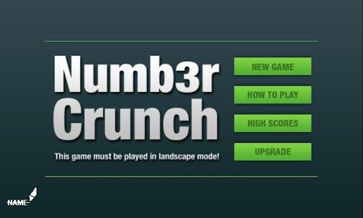 Numb3r Crunch - Mental Maths - screenshot thumbnail