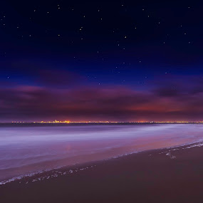 skyline ll by Steve De Waele - Landscapes Beaches ( skyline, stars, long exposure, seascape, nightscape,  )