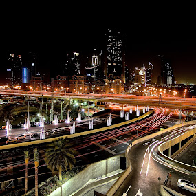 dubai by Yadi Kustiadi - City,  Street & Park  Night ( dubai, night )